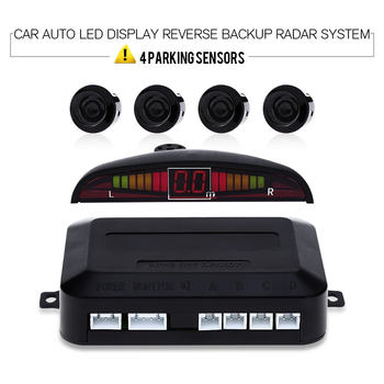 1 Set Car Auto Sensor Parking LED Display Reverse Backup Radar System Buzzing Sound Warning with 4 Parking Sensors