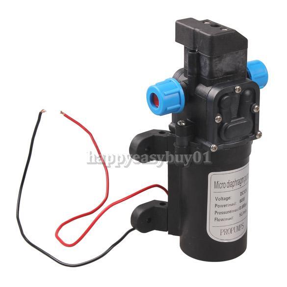 DC 12V 60W High Pressure Micro Diaphragm Water Pump Automatic Switch 5L/min H1E1(China (Mainland))