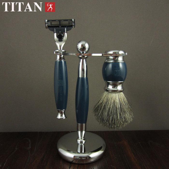 shaving razor set with gift box   high qulity 3 blade shaving razor with stand ,brush<br><br>Aliexpress