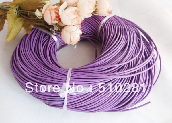 1mm leather cord free shipping& 100m/lot Purple available on wholesale high quality stock is available(China (Mainland))