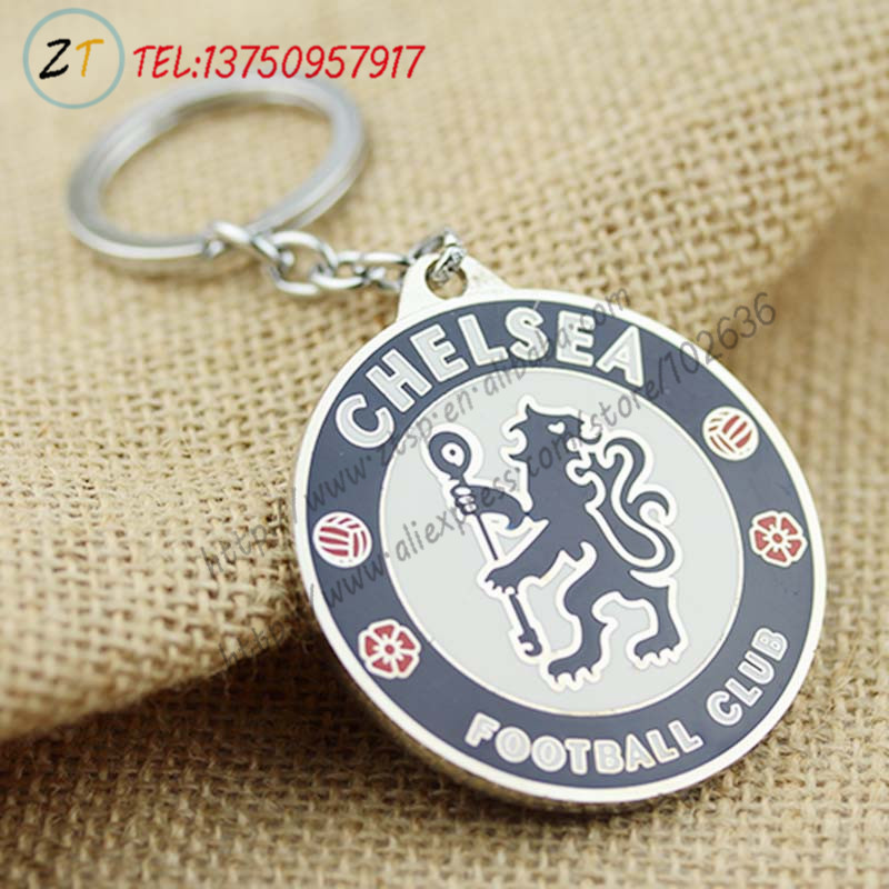 Chelsea double side badge football soccer keychain key chain kEY ring 12PC/LOT Wholesale<br><br>Aliexpress