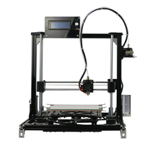 LCD display diy delta 3d printer kit with one roll Filament  8GB SD card LCD masking tape for Free