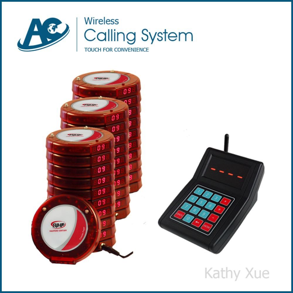 Featured Product Restaurant Guest Calling System with 30 Red Coaster Pagers(China (Mainland))