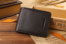 2016 Fashion New small-scale Interior A stainless steel clip Unique leisure style Free shipping Wallet SJ16048(China (Mainland))
