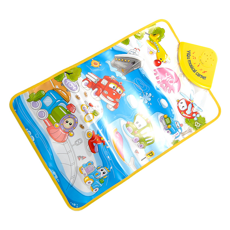 Hot sale baby toys cute cartoon baby play mat funny music play carpet baby music play mat baby early learning educational toys