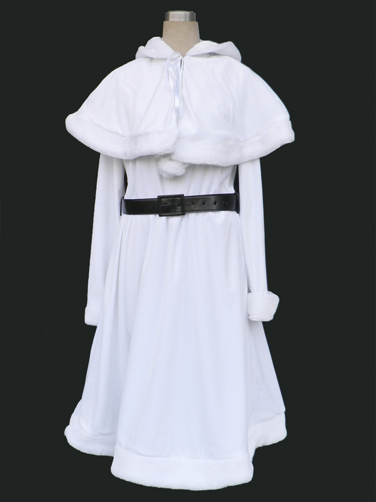 Christmas Culture Cosplay Costume Christmas Girl 10th-White Any Size(China (Mainland))