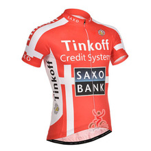 Red Saxo Bank Tinkoff Mans Pro Bicycle Clothing Cycling Clothing/Quick-Dry Cycling Jersey/Summer Breathable Bike Shirt For Man(China (Mainland))