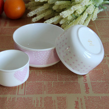 zakka fresh bone china tableware suit bowl of fresh three piece Japan and South Korea a