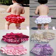 Wholesale mix red white pink color summer infant baby bloomers Ruffle Bottom Sassy Pants in summer wear(China (Mainland))