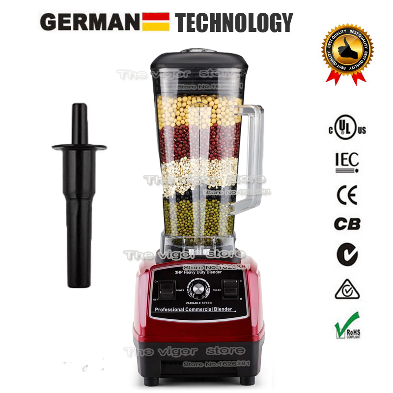 BPA Free 3HP 2200W Heavy Duty Commercial Grade Blender Mixer Juicer High Power Food Processor Ice Smoothie Bar Fruit Blender(China (Mainland))