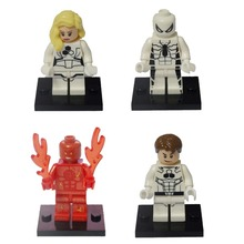Baby toys Decool 0156-0159 Blocks Super Heroes Avengers Fantastic 2 Invisible Woman Spider Man Human Torch Action figures Bricks