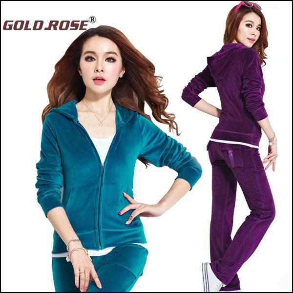Plus Size Women Track Suit,2015 New Arrival Fashion Sport Suit Women brand Top Jacket +Pants women sportswear suit set #GRJ005(China (Mainland))