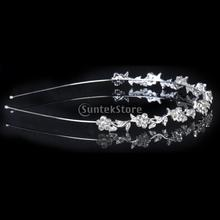 New 2014 Brand New Crystal Flower and Leaves Headband for Bridal Bridesmaid Wedding Tiara Free Shipping