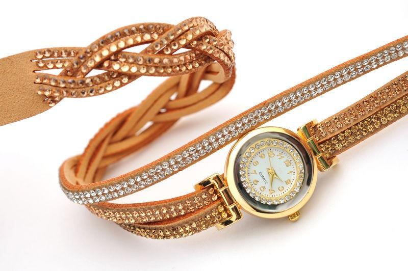 Новые Прибытия Роскошный Горный Хрусталь Браслет Женские Часы Дамы Кварцевые Часы Женщины Наручные Часы Relogio FeМиниno Reloj Mujer Montre Femme
