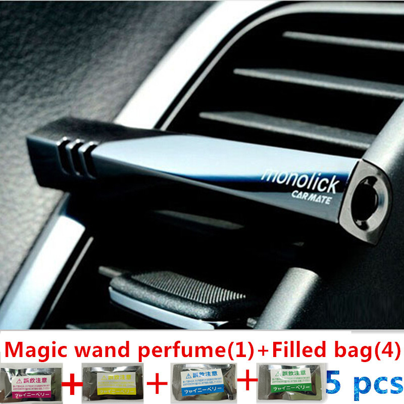 Free shipping Perfumes Magic Wand Car Perfume Air Freshener Balm Fragrance Add One Spices replacement package 2014 HOT(China (Mainland))