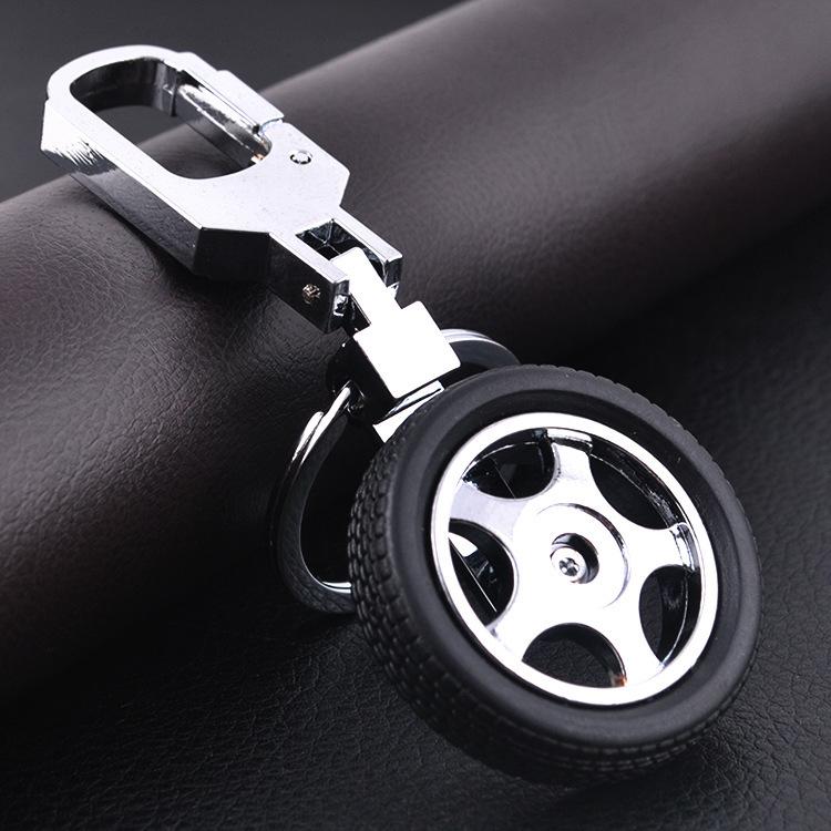 Fashion Creative Funny Auto Racing Tire Models Keychain with Car Brand Logo Key Chain Ring Keyfob Key Ring Jewelry Drop Shipping(China (Mainland))