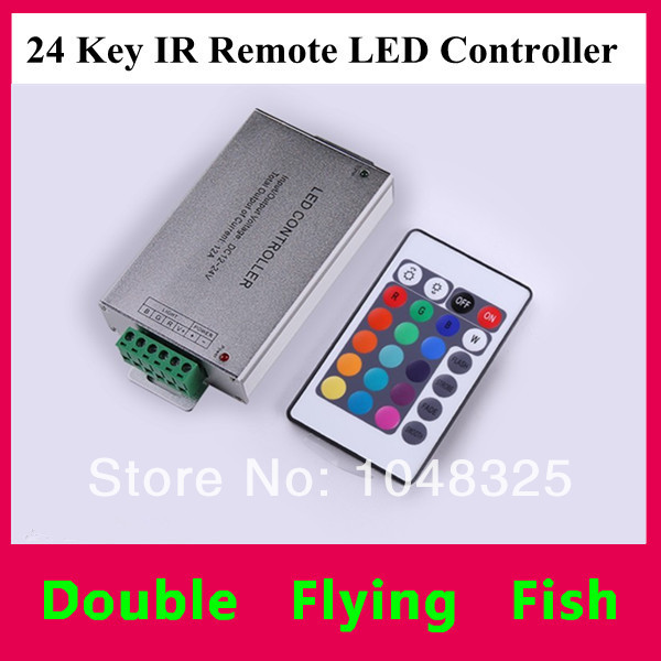 Free Shipping 144W 24 keys IR remote RGB Controller For LED RGB Strips / Modules DC12V 24V Common Anode(China (Mainland))