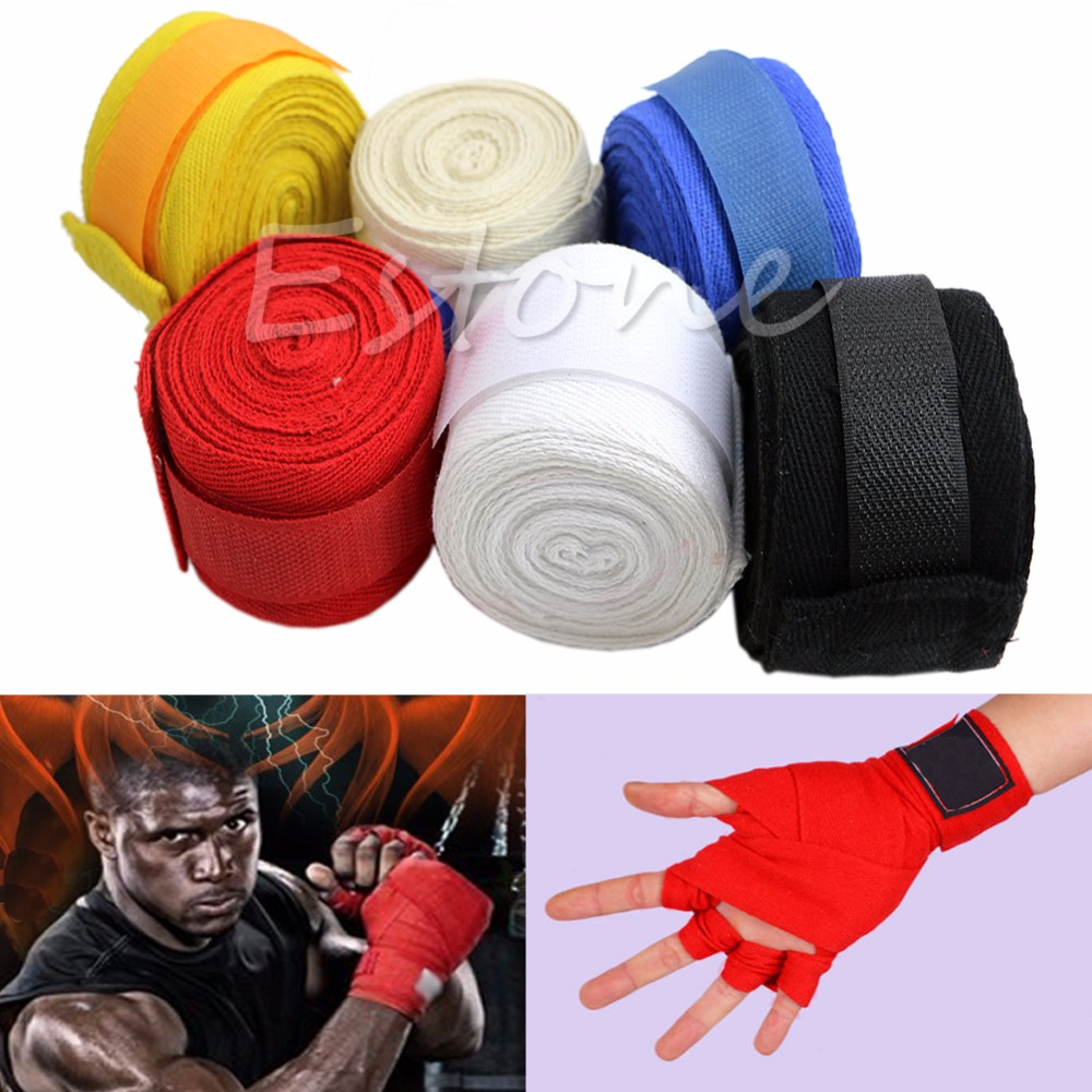 1 Pair New 3M Boxing Hand Wraps Boxing Bandages Wrist Protecting Fist Punching Training Wrist Protect(China (Mainland))
