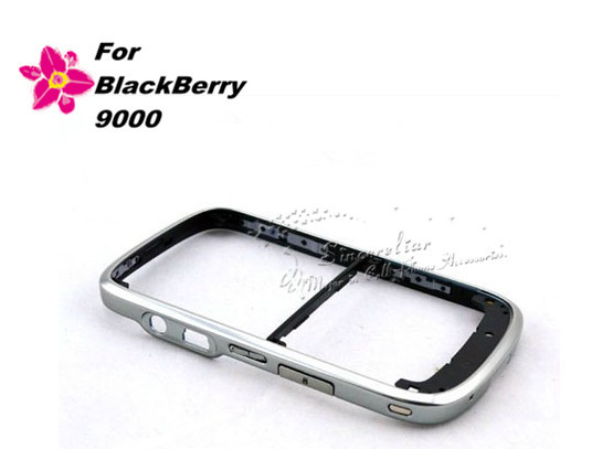 For BlackBerry Bold 9000 Electroplated Middle Bezel Frame with Side Buttons Original - Black/White(China (Mainland))