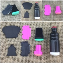 Nail Art DIY Rubber + plastic 3pcs/Set Scraper Nail Art Stamping Image Plate Tools