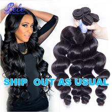 Bele Peruvian Loose Wave 4pcs 7A Unprocessed Peruvian Virgin Hair Loose Curly Top Quality Peruvian Human Hair Weave Bundles(China (Mainland))