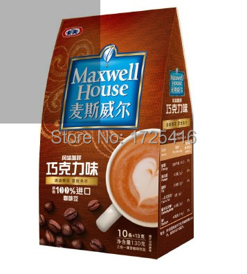Imported coffee 3 in 1 coffee flavors Chocolate 130g free shipping
