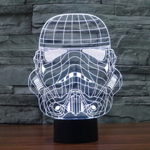 Newest Star Wars Stormtrooper 3D Bulbing Night Lights Colorful Gradient Touch Sensor LED Lighting Anime Fans To Collect Toys(China (Mainland))