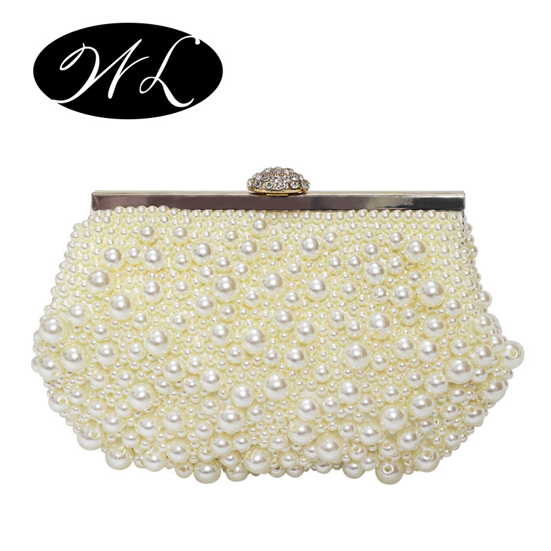 The new 2016 Woman bag Hand bag Evening bag The party package Inclined shoulder bag Pearl package Wedding packages(China (Mainland))