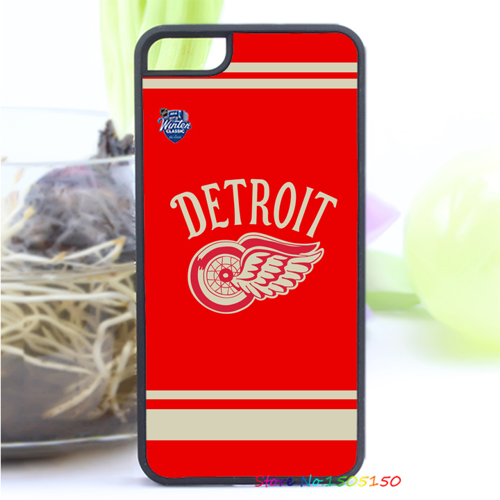 NHL Hockey Detroit Red Wings fashion cover case for iphone 4 4S 5 5S SE 5C 6 6S 6plus & 6s Plus #1805(China (Mainland))