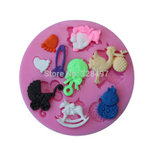 High quality baby shower party fondant molds,silicone mold soap,candle moulds,sugar craft tools,chocolate moulds,bakeware C057(China (Mainland))