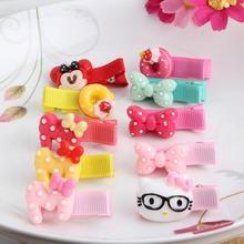 1PC Girls Kids Baby Cute Bow Cartoon Shape Hair Clip Headbands hairpins hairclip multistyles hair ornaments accessories