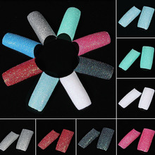 100 Pcs/ pack Acrylic Colors Glitter Twinkle Slice French False Nail Art Tips Design 10 Different Sizes DIY Nails l1 - eshopselling store
