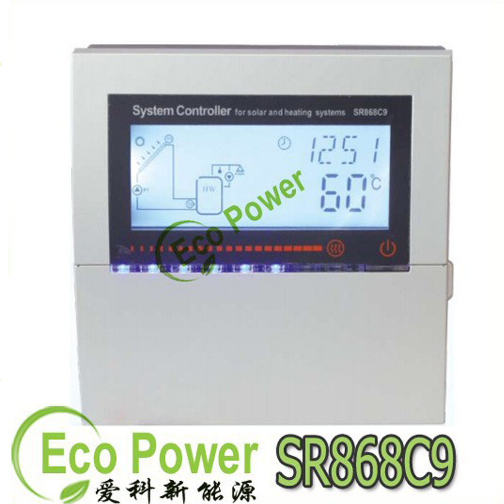 SR868C9 solar heat water controller for heating system ,SR868C9 Solar Heating System Controller indicating light of Temperature(China (Mainland))