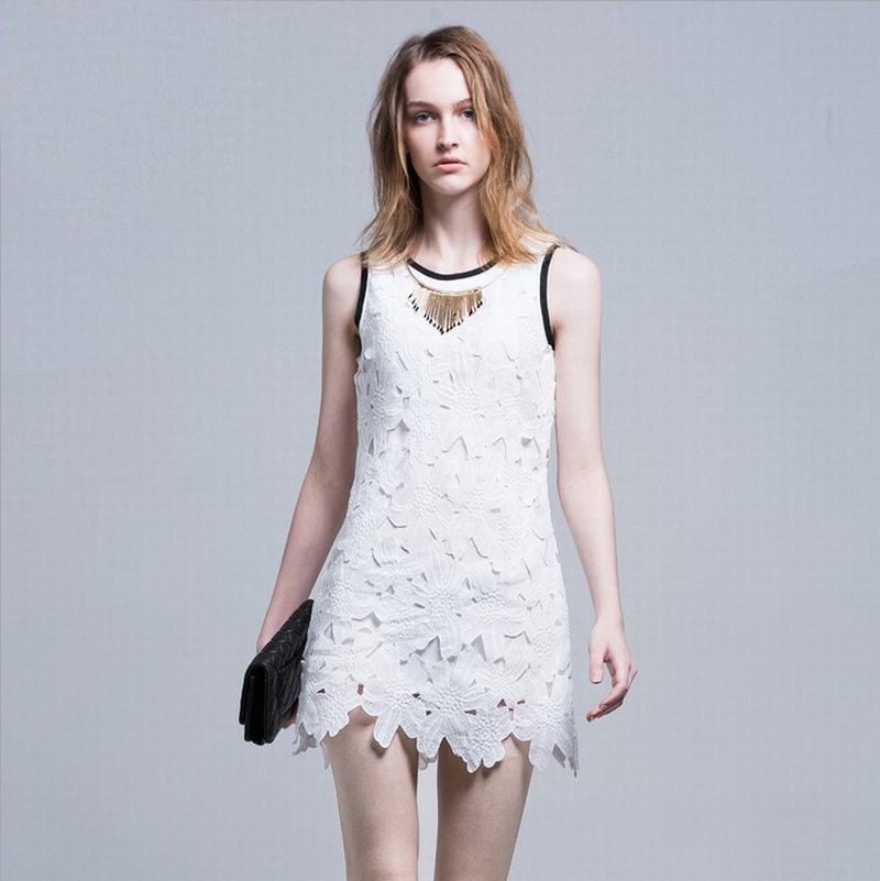 New New Style Women Dress Lace Patchwork Long Sleeve Dress Party Dress