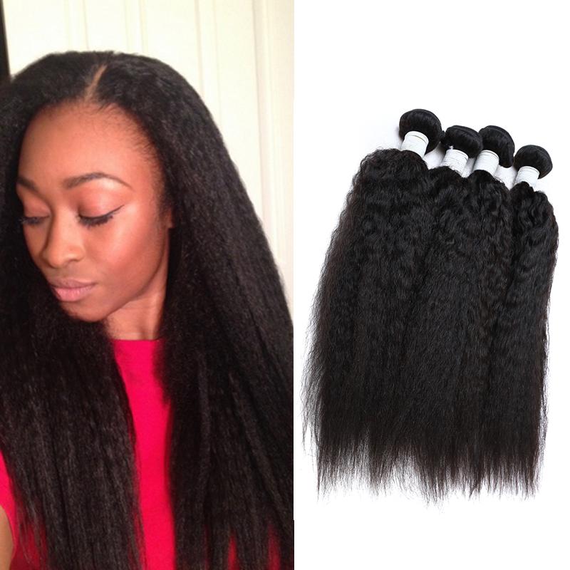 malaysian virgin hair kinky straight hair weave 3 bundles kinky straight human hair extensions grade 7a unprocessed virgin hair(China (Mainland))