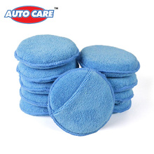 "10-Pack Car Microfiber Wax Applicator Pads Auto Care Polishing Sponges 5"" Diameter with pocket(China (Mainland))"