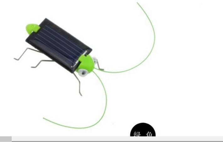 Foreign trade hot new fashion creative new solar grasshopper solar cricket Solar Insect Solar Toy(China (Mainland))