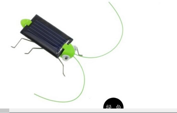 Foreign trade hot new fashion creative new solar grasshopper solar cricket Solar Insect Solar Toy(China (Mainland))