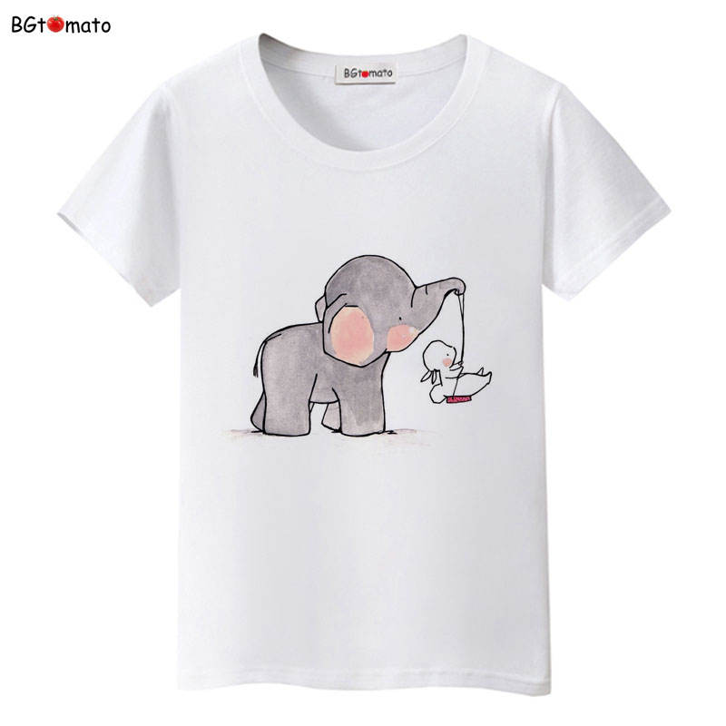 BGtomato Children's printing personality cartoon t shirts for women lovely creative summer shirts Good quality soft tops(China (Mainland))