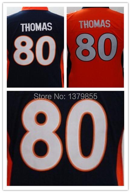 Kids Denver #80 Julius Thomas Youth Kids Jersey Blue Orange Football/Rugby Youth Jersey Stitched Logos(China (Mainland))