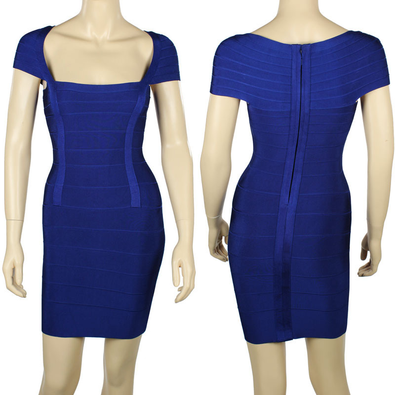 Wonmen`S Blue Bandage Summer Style Dress - Dresses store