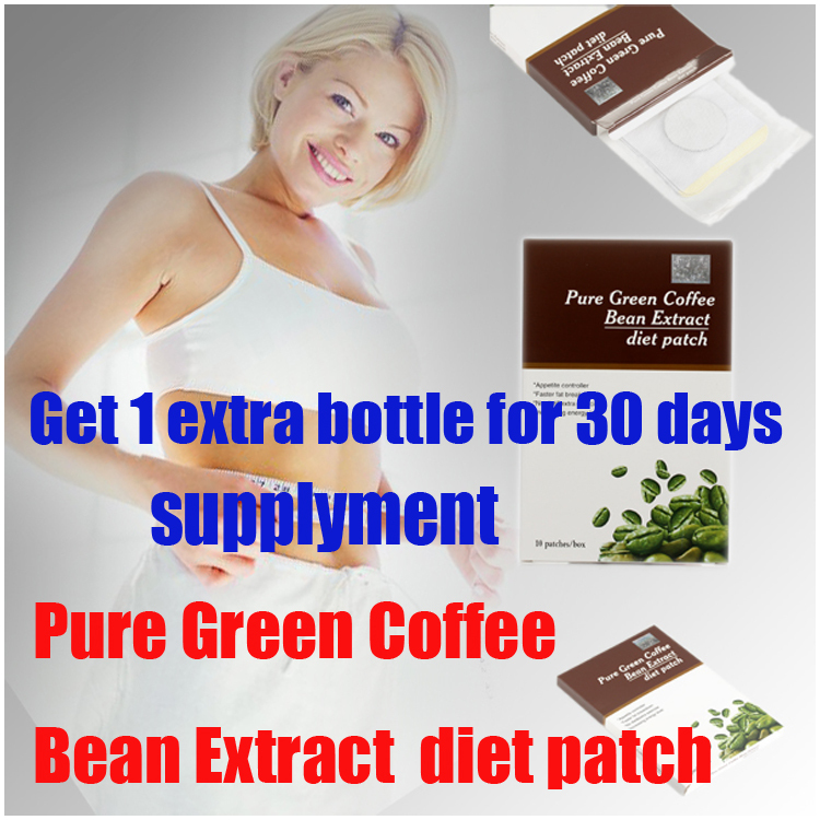 free Get 1 extra Slimix bottle for 30 days, detox patch,Pure Green Coffee Bean Extract diet patch(China (Mainland))