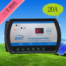 Solar controller 12V24V20A with USB battery board home system intelligent solar power generation controller(China (Mainland))
