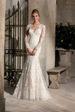 H007 Long Sleeves Wedding Dresses 2017 Vestido De Noiva White Mermaid See Through Back Wedding Bridal Gowns Robe De Mariage Sexy