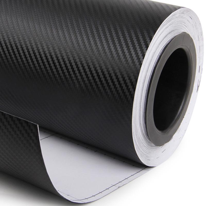 car-styling 127cmX30cm 3D Carbon Fiber Vinyl Film Car Accessories Motorcycle Carbon Fibre Car Wrap Sheet Roll Film Sticker Decal(China (Mainland))