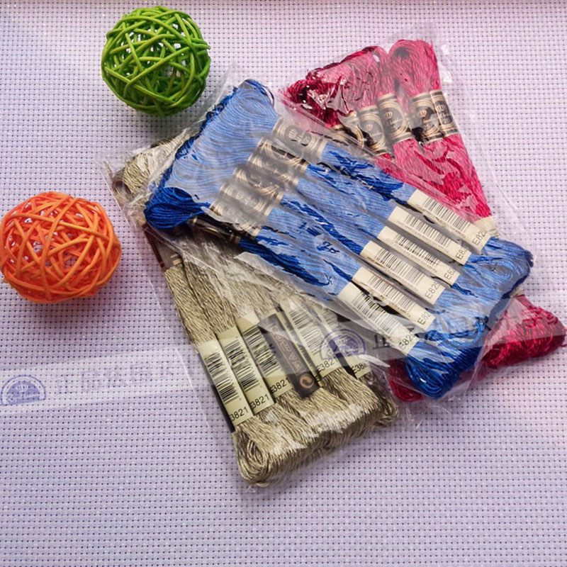 Free shipping metal color cross stitch metallic thread