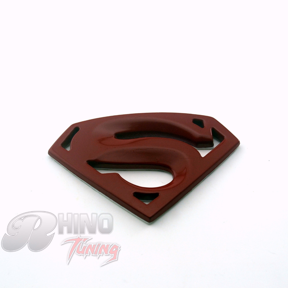 "82mm Superman ""S"" Logo RED Emblem Sticker Car Boot Trunk Rear Badge For E61 E63 E64E68 E70 E81 E82 E65 E66 E67(China (Mainland))"