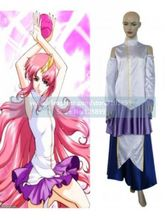 Gundam Seed High Quality Princess Lacus Clyne Cosplay Costume