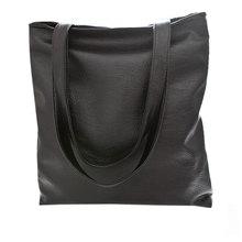 2015 Fashion black women's handbag big PU leather casual women shoulder bag large tote shopping bag ladies beach handbag H15043(China (Mainland))