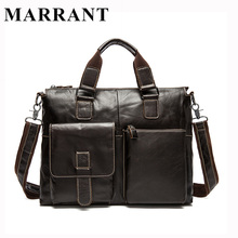 MARRANT Genuine Leather Men Bags Fashion Messenger Bag Man Leather Laptop Briefcase Men's Travel Bag Crossbody Shoulder Handbag(China (Mainland))